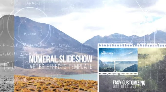 Numeral– After Effects Slideshow Template