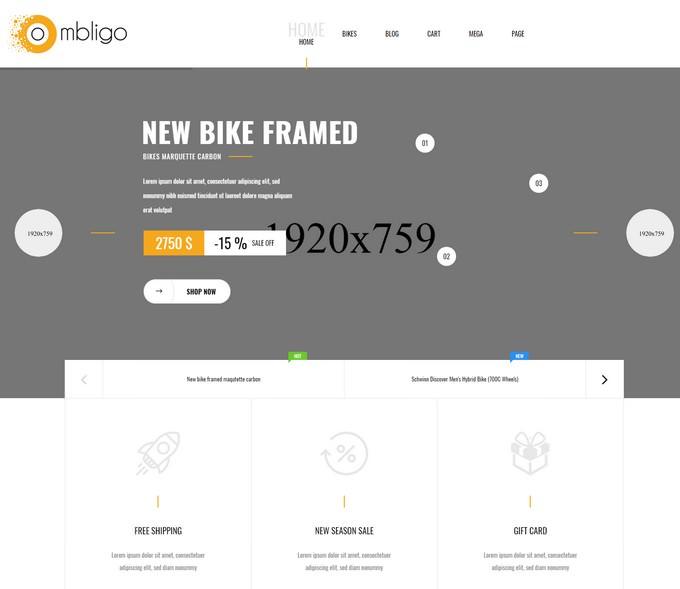 Ombligo Shop - Multi Concept Motor & Cycle HTML Template