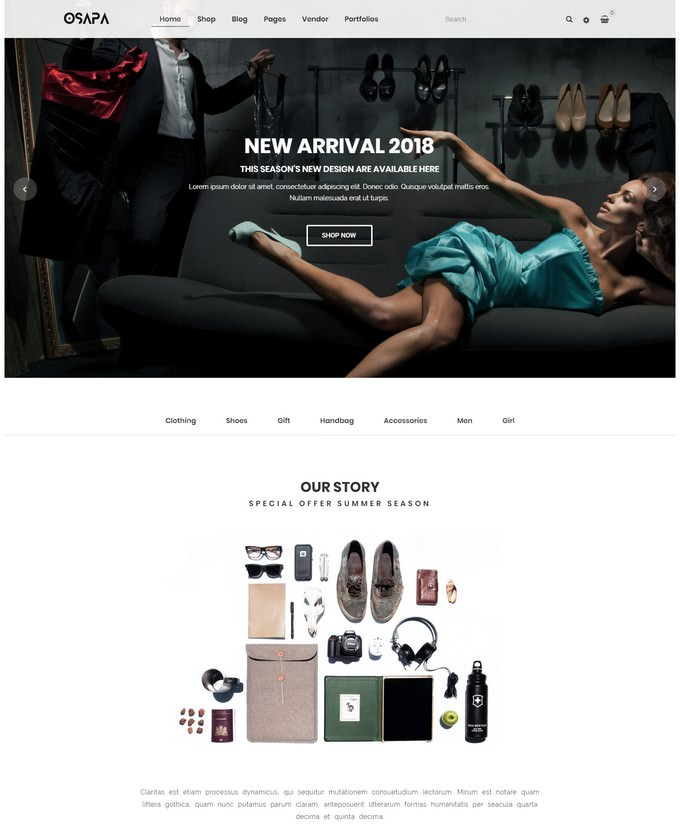 Osapa - Clean Minimalist Fashion WooCommerce WordPress Theme