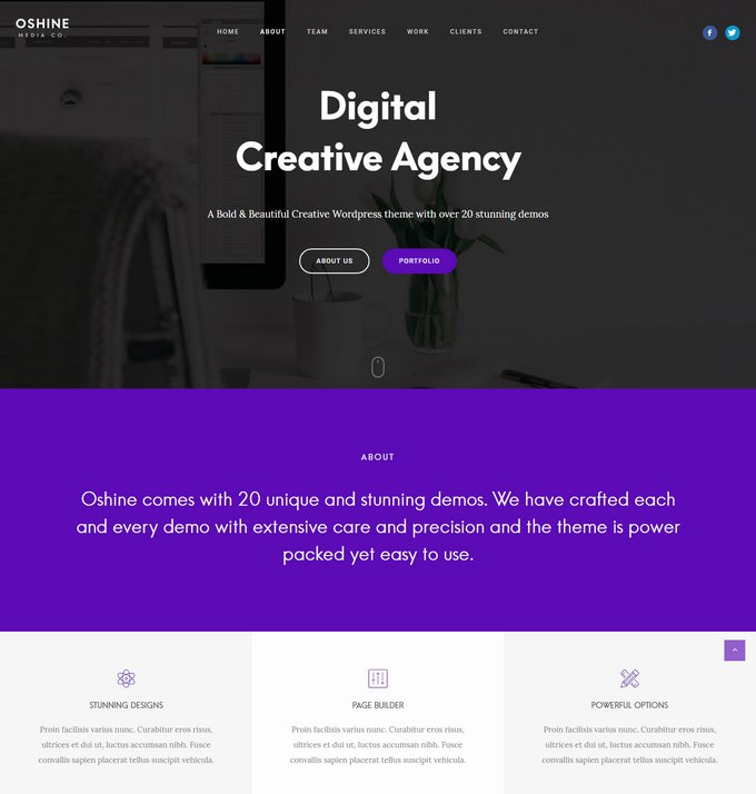 Oshine - Digital Agency Creative Theme