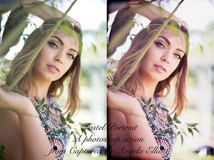 Pastel Portrait Photoshop Action