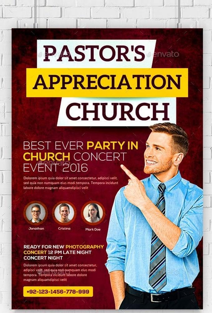 Pastor Appreciation Church Flyer # 3