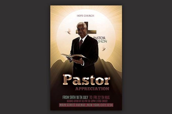Pastor Appreciation Church Flyer # 4