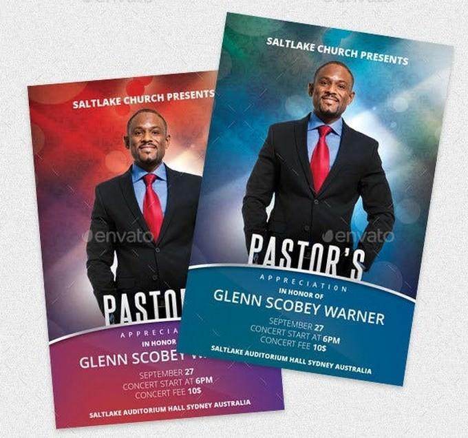 Pastor's Appreciation Church Flyer # 3