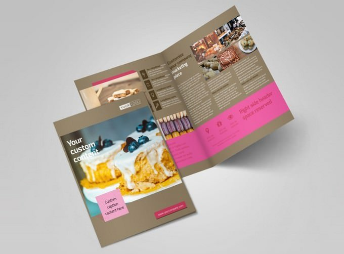Pastry Catering Brochure Template