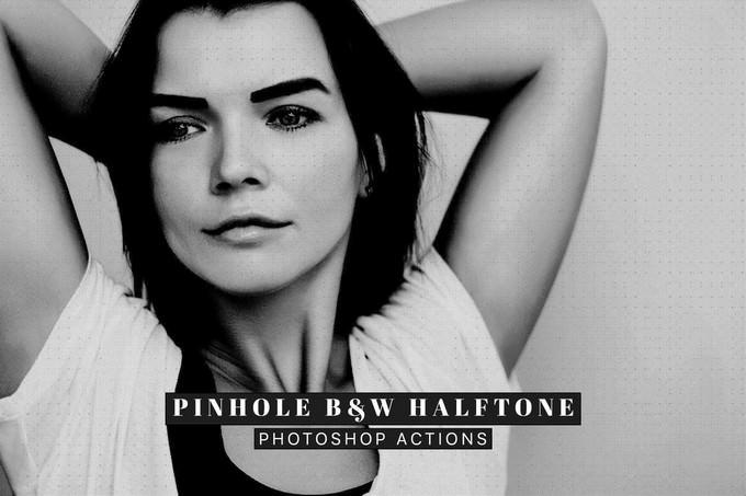 Pinhole Halftone Photoshop Action