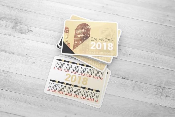 Pocket Calendar Mock-Up