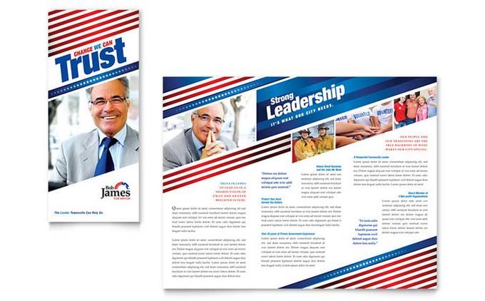 Political Campaign Tri Fold Brochure Template