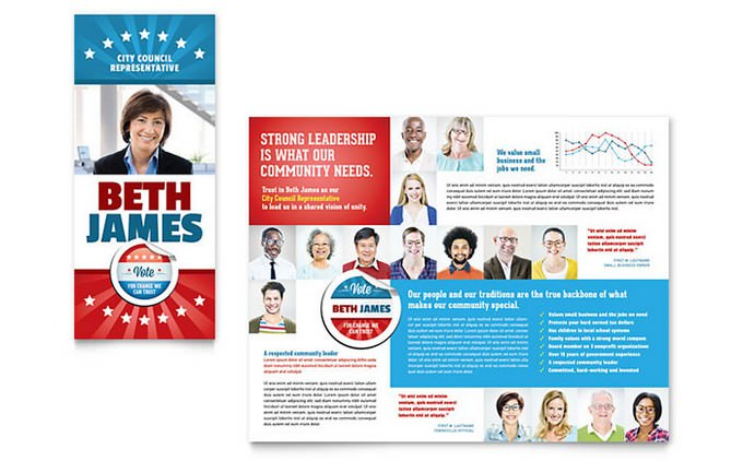 Political Candidate Election Brochure Template