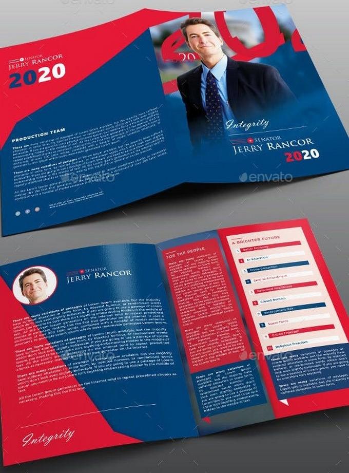 12 creative election brochures templates 2019 templatefor. Black Bedroom Furniture Sets. Home Design Ideas