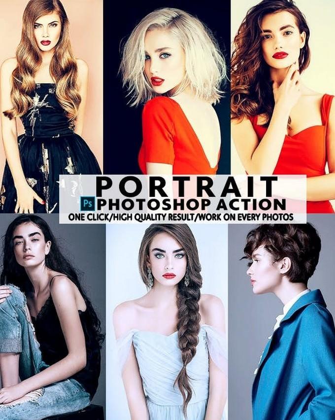 Portrait Photoshop Action PS