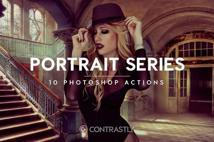 Portrait Series Photoshop Action