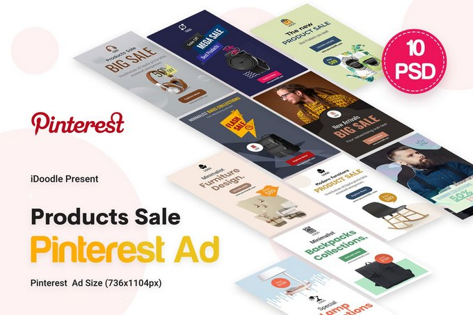 Products Sale Pinterest Ad
