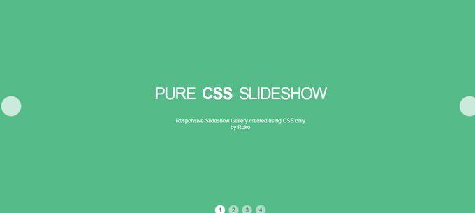 Pure CSS Slideshow Gallery