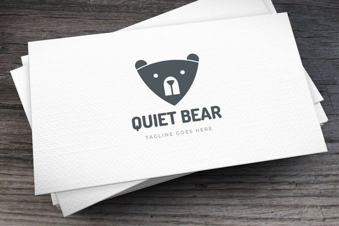 Quiet Bear Logo Template