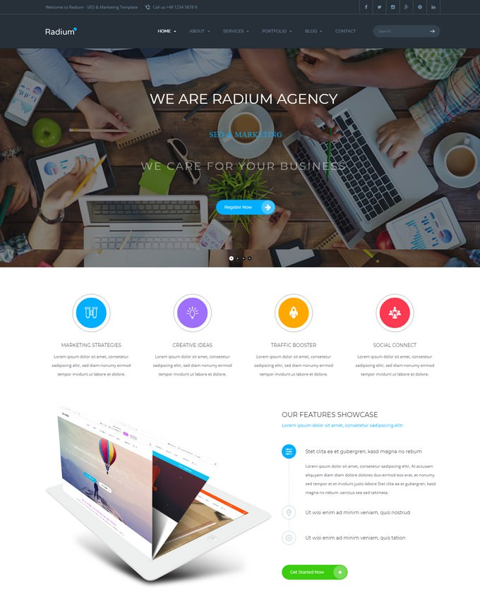 Radium - SEO Digital Agency WordPress Theme