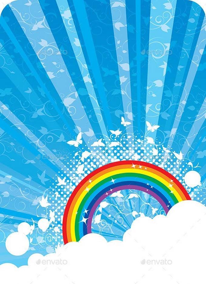 Rainbow Background # 5