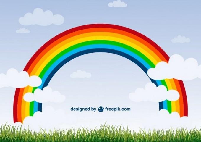 Rainbow Nature Background