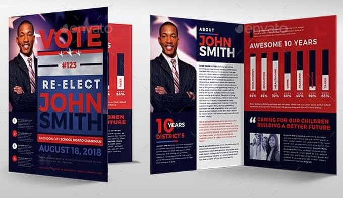 Re-Election Political Brochure Template