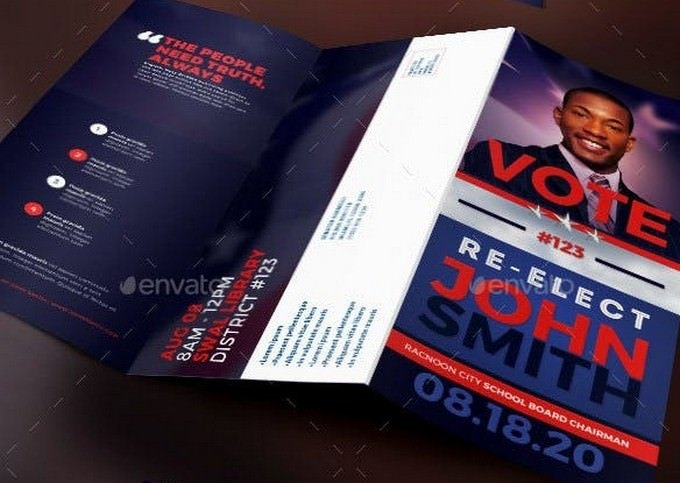 Re-Election Political Tri-Fold Brochure Template