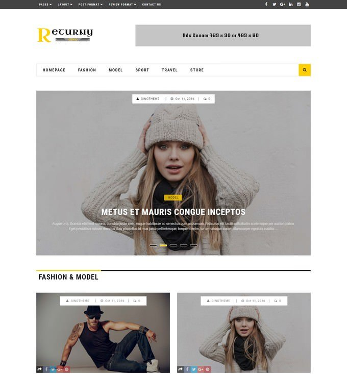 Returny Theme - Blog & Magazine