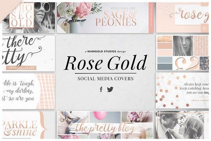 Rose Gold Social Media Covers