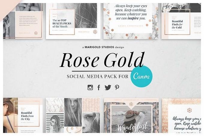 Rose Gold Social Media Pack