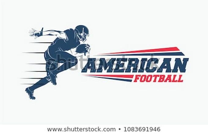 Running American Football Player Logo