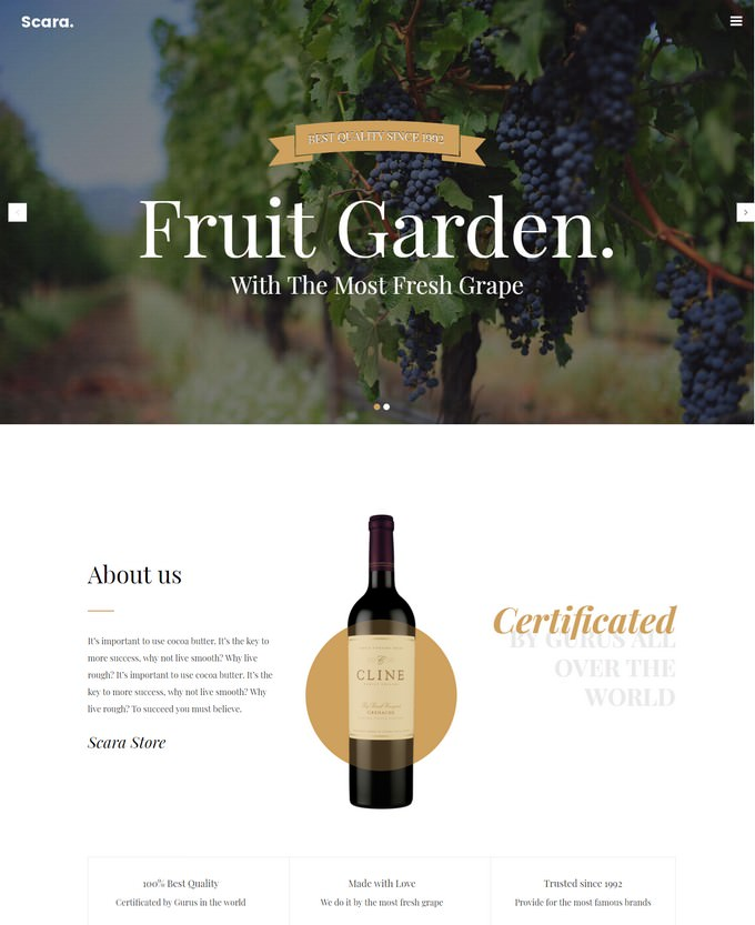 Scara- Wine Magento 2 Theme for Online Store