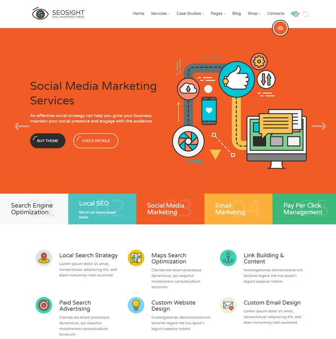 Seosight - SEO, Digital Marketing Agency WP Theme
