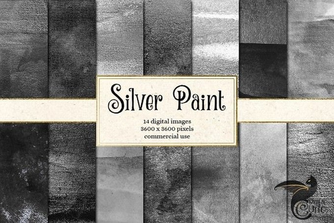 Silver Paint Textures