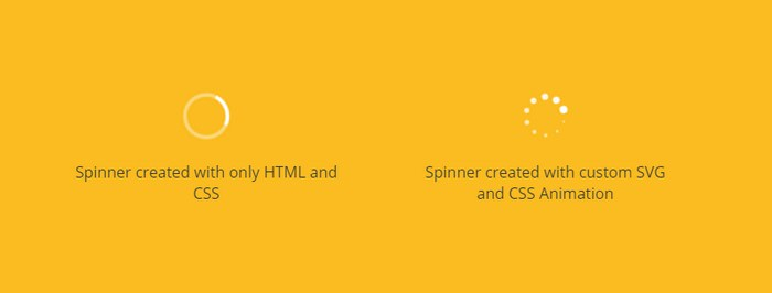 Simple HTML & SVG Loading Spinners