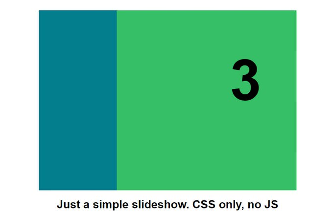 Slideshow, CSS only