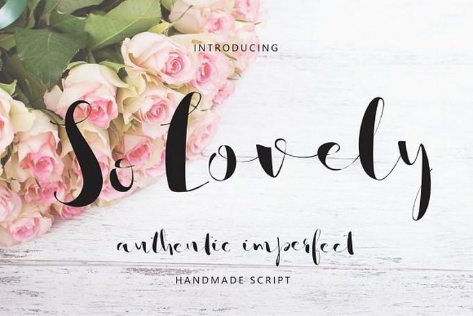 So Lovely Handmade Script