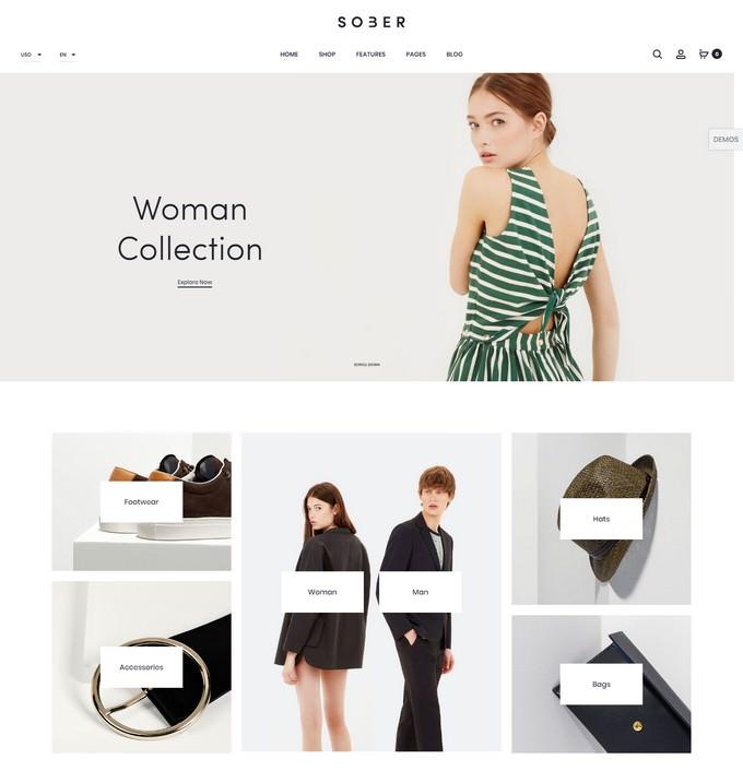 Sober - Fashion WooCommerce WordPress Theme