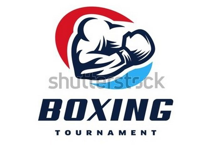 Sporty boxing logo template