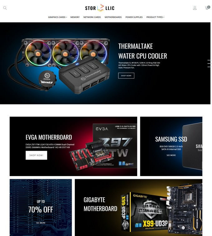 StorLlic - Computer Hardware Magento Theme