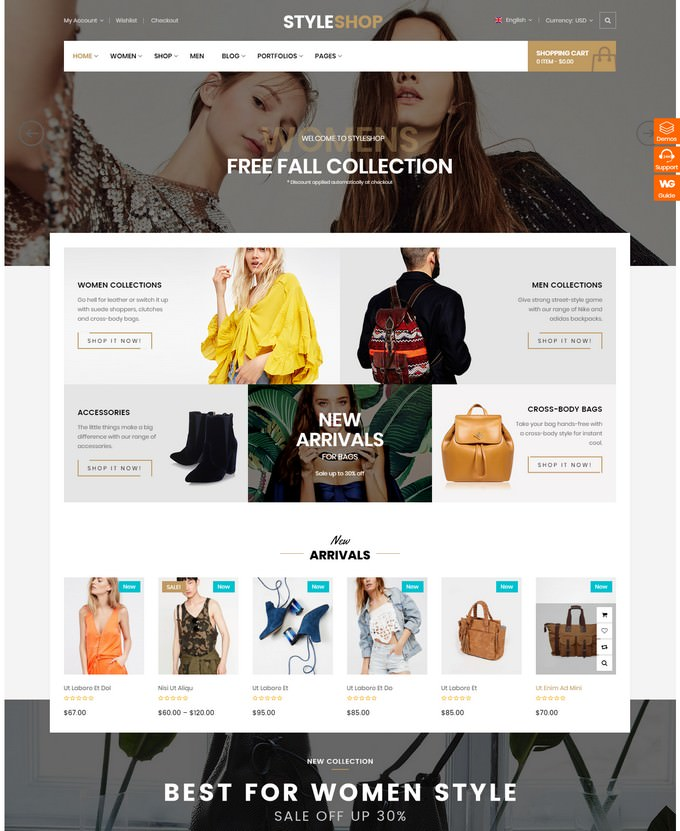 StyleShop - Responsive Fashion Store WooCommerce Theme