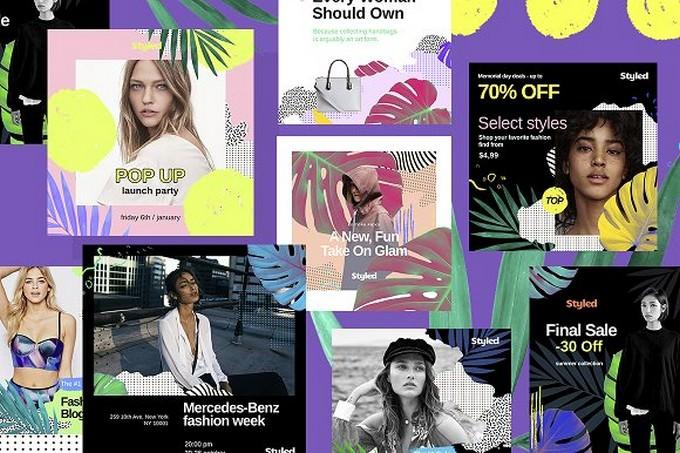 Styled Social Media Kit template