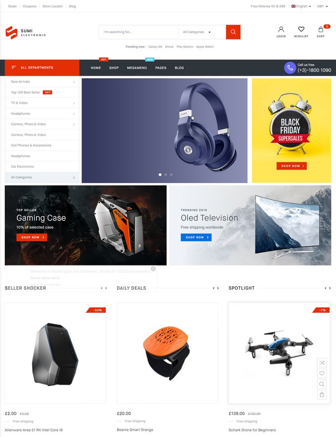 Sumi - Electronics WordPress Theme for WooCommerce