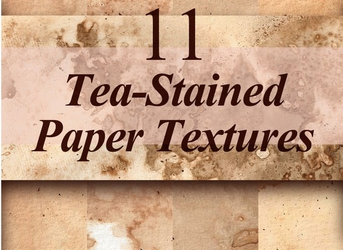 Tea-Stained Paper Textures Free