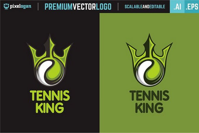 Tennis King Logo design