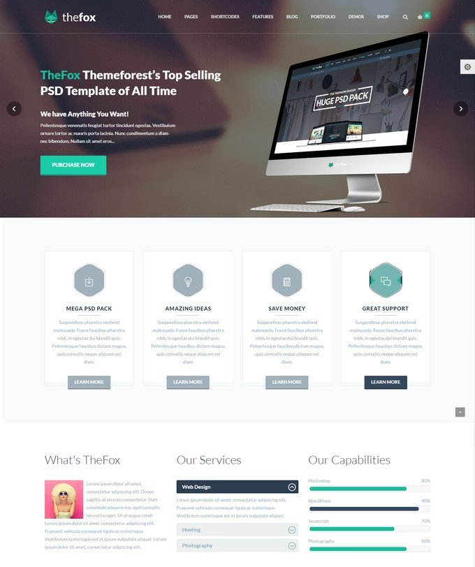 TheFox Agency WordPress Theme