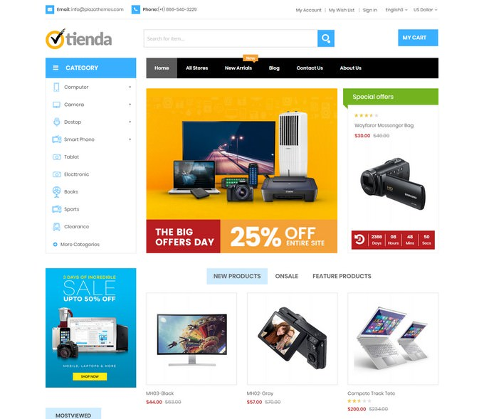 Tienda - Responsive Technology Magento Theme
