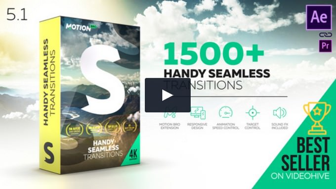 Transitions – After Effects Slideshow Template