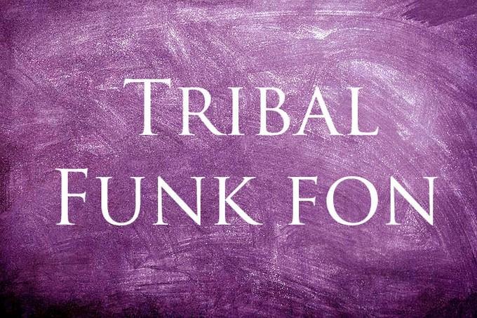 Tribal Funk Font