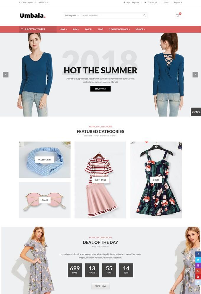 Umbala - Stylish Fashion Clothing WooCommerce Theme