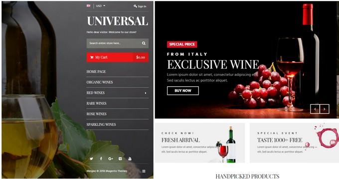 Universal - Wine Store Responsive Magento Theme