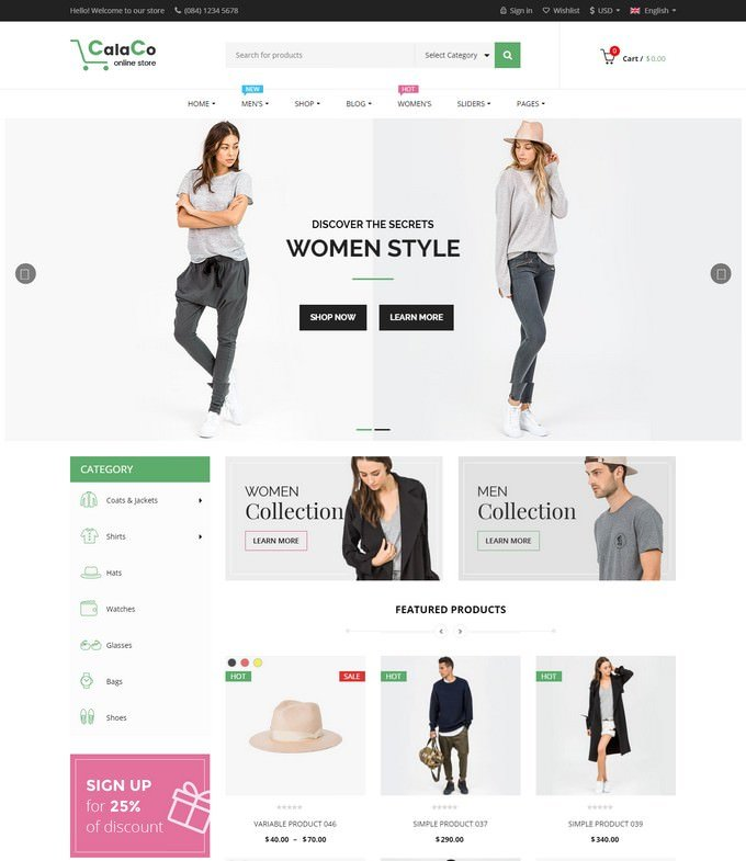 VG Calaco - Clothing and Fashion WordPress Theme