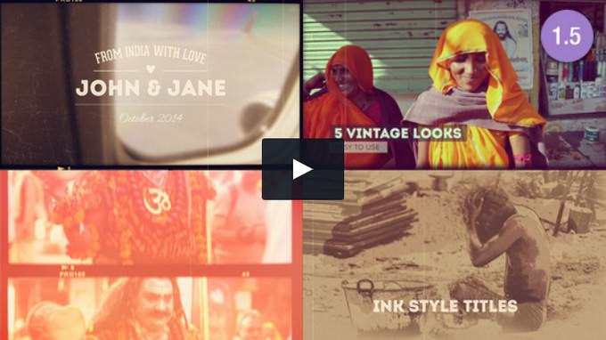 Vintage Memories Projector - Photo– After Effects Slideshow Template
